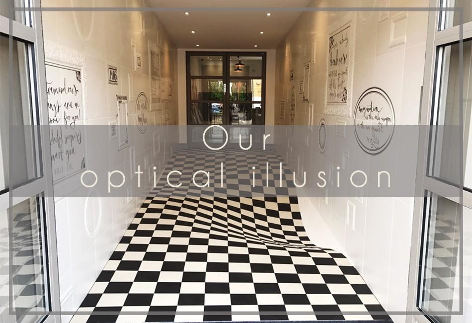 Our optical illusion entrance casa ceramica for Ceramica in casa