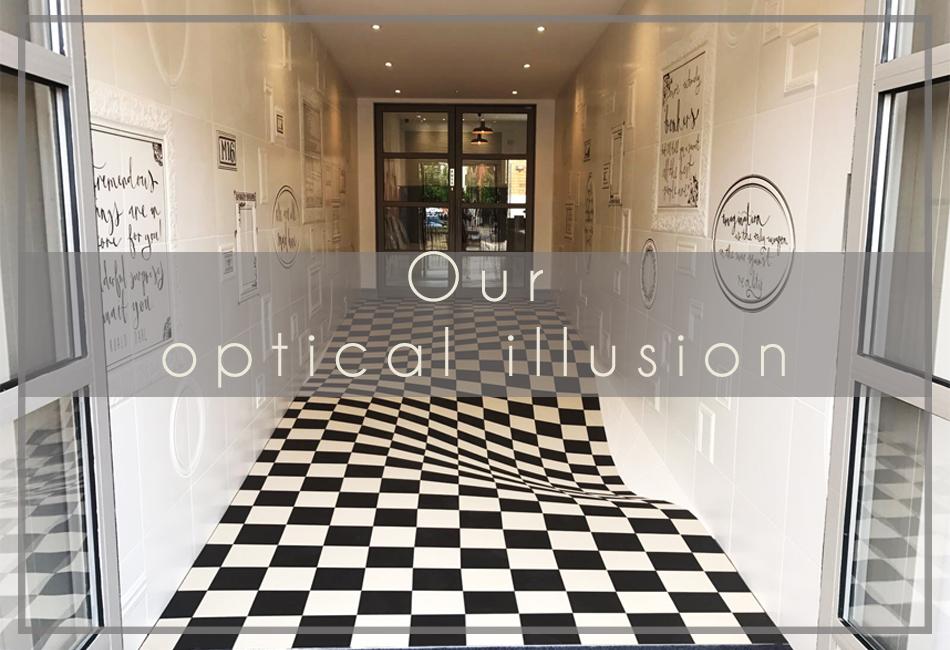 Our Optical Illusion Entrance Casa Ceramica
